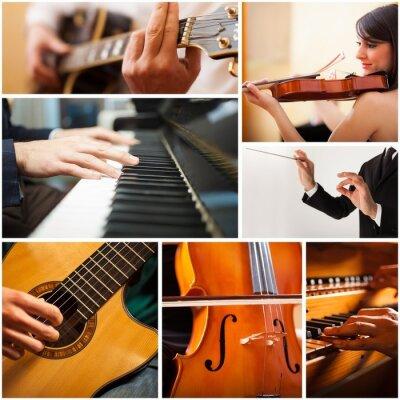Canvastavlor Personer som spelar musikinstrument