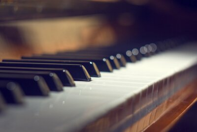 Canvastavlor Piano bakgrund med selektiv inriktning