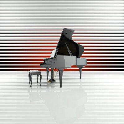 Canvastavlor Piano, Wing, Scen, Star, Talent
