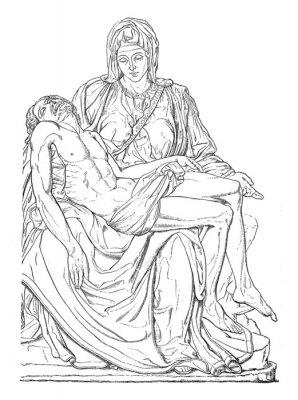 Canvastavlor Pieta - Michel-Ange