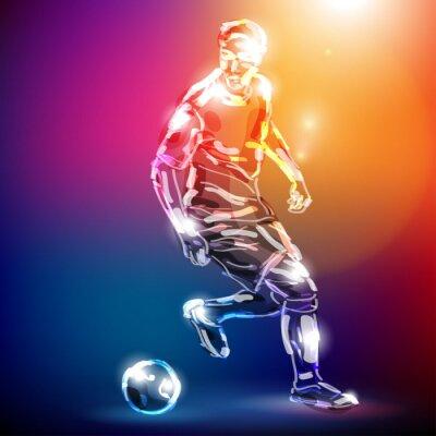 Canvastavlor Piłka nożna wektor