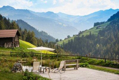 Canvastavlor Pittoreska Avkopplande Point att koppla av i Alperna