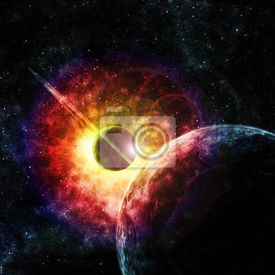 Canvastavlor planet med ringar