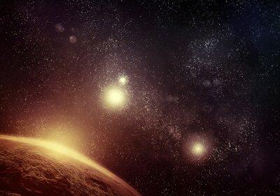 Canvastavlor Planet och Starfield