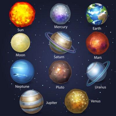 Canvastavlor Planet set 2