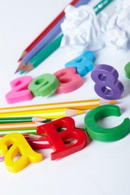 Canvastavlor Plast alfabetet