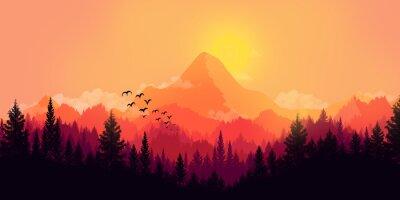 Canvastavlor platt landskap