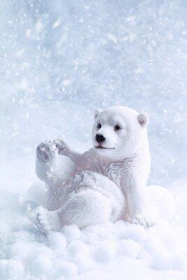 Canvastavlor Polar Bear Figur