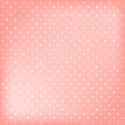 Canvastavlor Polka dot rosa bakgrund