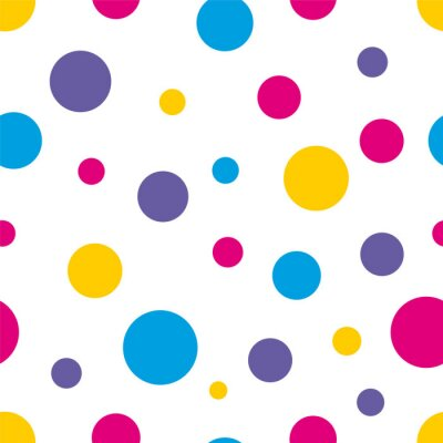 Canvastavlor Polka Dot Seamless färgrik bakgrund
