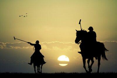 Canvastavlor polo spelare på hästar