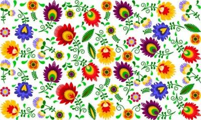 Canvastavlor Polski folklor - kolorowy wzór