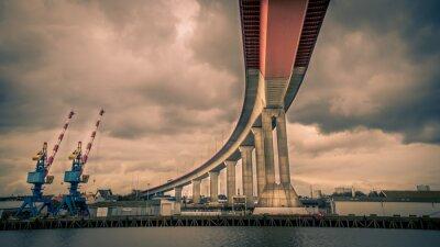 Canvastavlor Pont autoroute au dessus de la Loire - Nantes