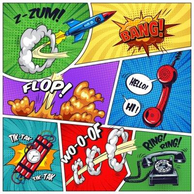 Canvastavlor Popkonst färgstarkt koncept