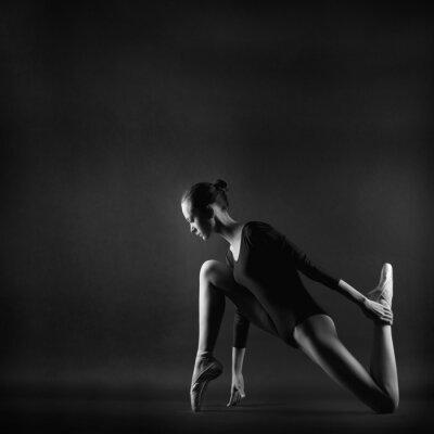 Canvastavlor Porträtt av ung vacker gymnast kvinna