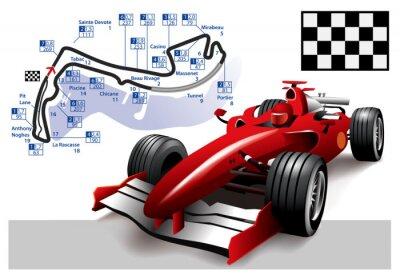 Canvastavlor Poster Monaco Formel 1 Grand Prix