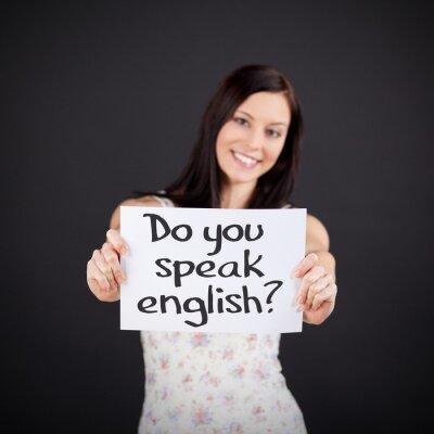 Canvastavlor Pratar du engelska?
