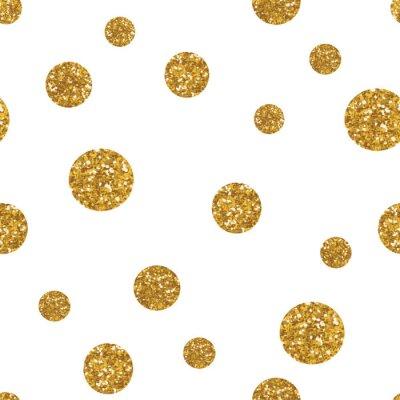 Canvastavlor Prickar seamless med gyllene glitter konsistens.