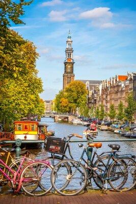 Canvastavlor Prinsengracht kanalen i Amsterdam