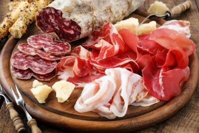 Canvastavlor Prosciutto, bresaola, pancetta, salami och parmesan
