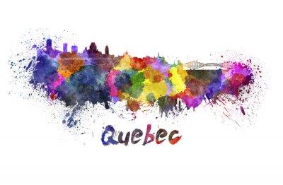 Canvastavlor Quebec silhuett i vattenfärg