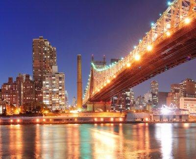 Canvastavlor Queensboro Bridge och Manhattan