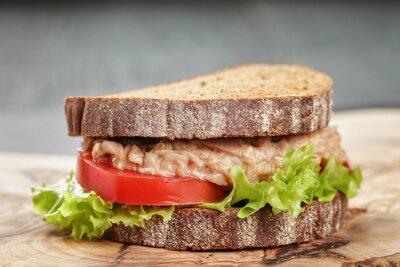 Canvastavlor rågbröd smörgås med tonfisk och grönsaker