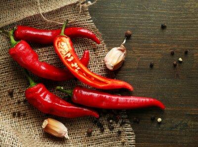 Canvastavlor Red Hot Chili Peppers och vitlök,