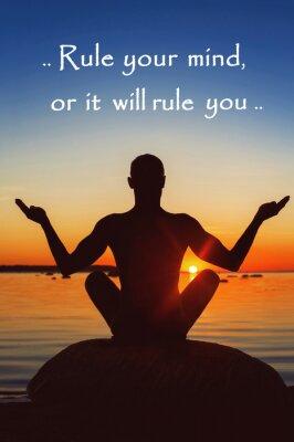 Canvastavlor Regel dig eller kommer det att styra dig. Motivation för dig själv