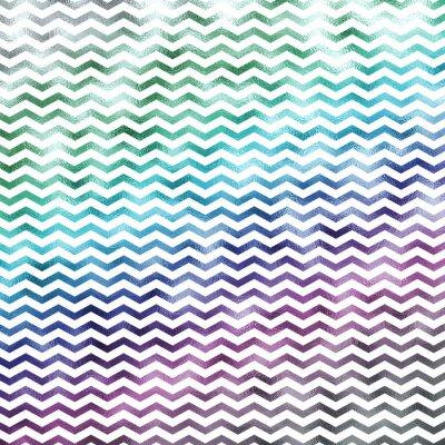 Canvastavlor Regnbåge Vit Metallic Faux Folie Chevron Pattern Chevrons Textur