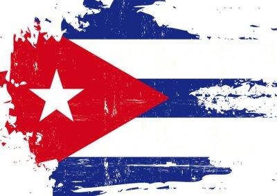 Canvastavlor Repad kubanska flagga