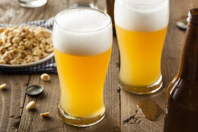 Canvastavlor Resfreshing Golden Lageröl
