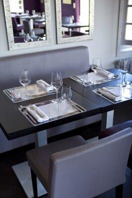 Canvastavlor Restaurang, salle, bistrot, tabeller, Couverts, gastronomie