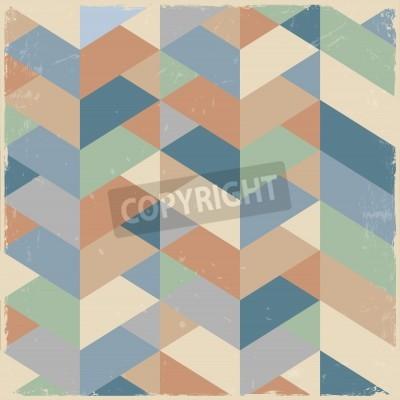 Canvastavlor Retro geometrisk bakgrund i pastellfärger