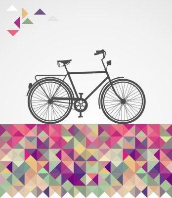 Canvastavlor Retro hipsters cykel geometriska element.