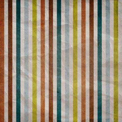 Canvastavlor Retro rand mönster - bakgrund med bruna, blå, grå