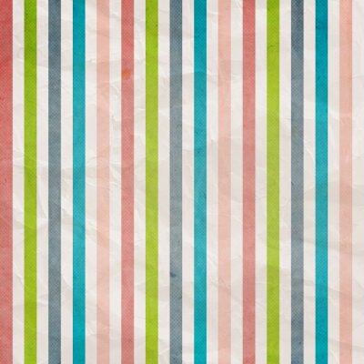 Canvastavlor Retro rand mönster - bakgrund med rosafärgad, cyan, grått,