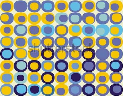 Canvastavlor Retro sömlös fyrkantig mönster