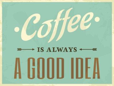 Canvastavlor Retro utformar Kaffe affisch