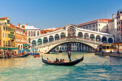 Canvastavlor Rialtobron i Venedig