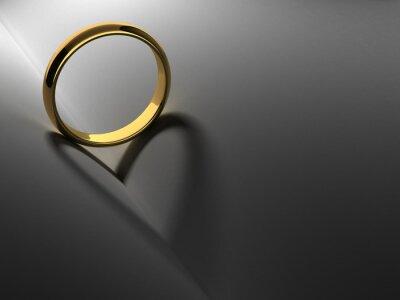 Canvastavlor Ring med hjärta skugga