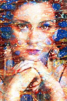 Canvastavlor ritratto multicolore