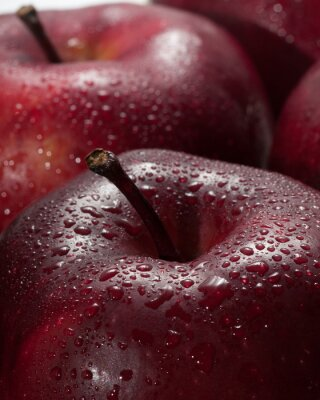 Canvastavlor röda äpplen