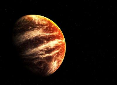 Canvastavlor Röda planeten och stjärnor