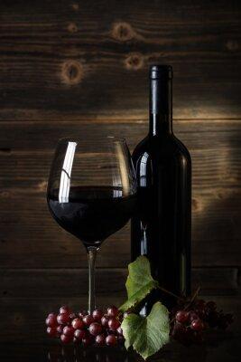 Canvastavlor rödvin