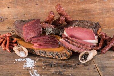Canvastavlor Rökt kött och korv
