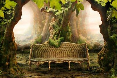Canvastavlor romantisk plats i en djup skog