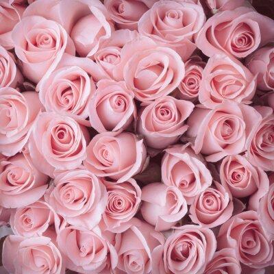 Canvastavlor rosa blomma bukett vintage bakgrund
