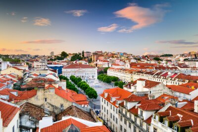 Canvastavlor Rossiotorget i Lissabon