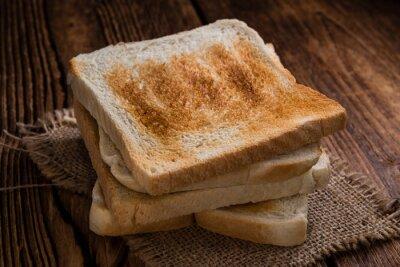 Canvastavlor Rostat bröd toast